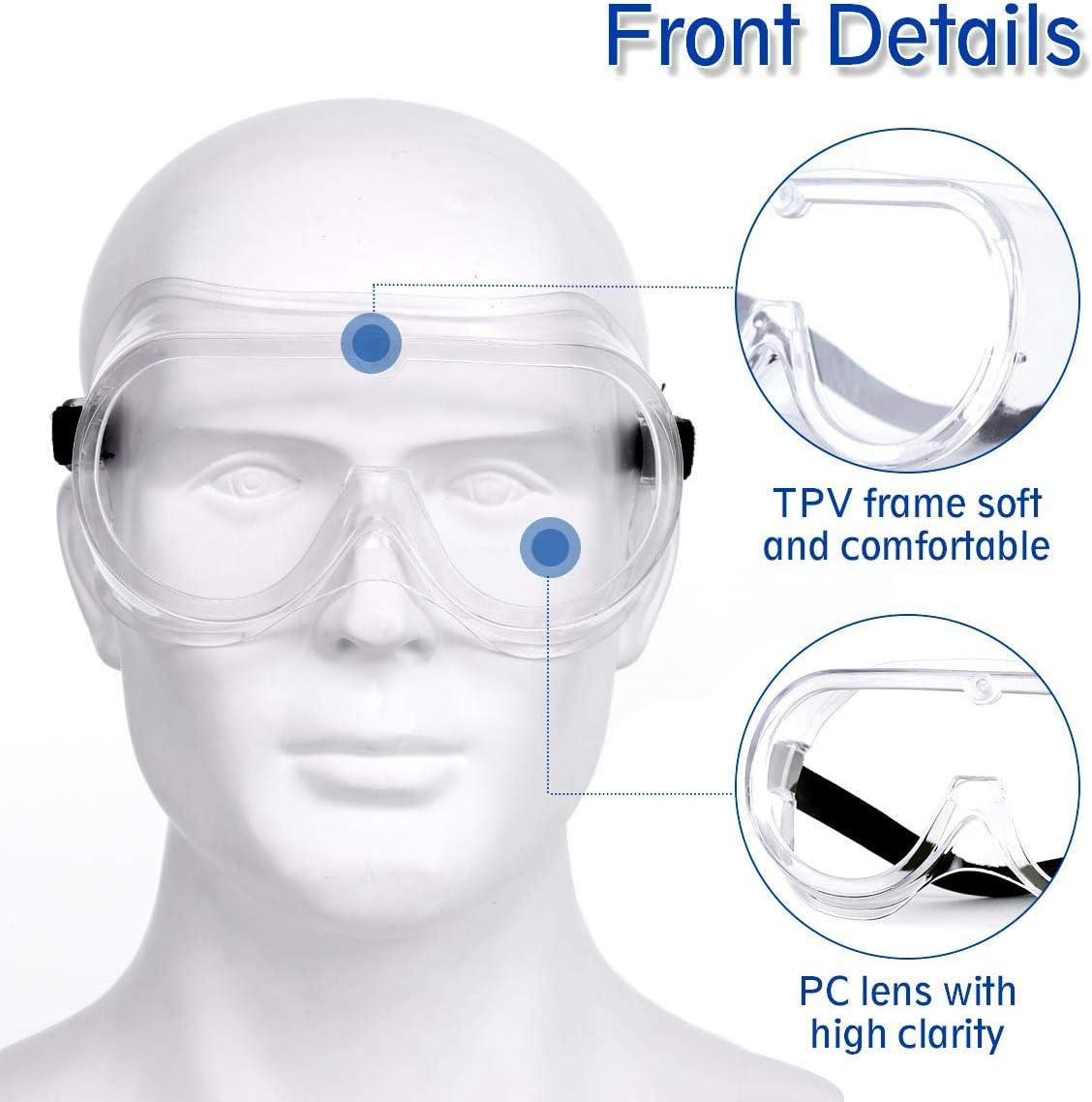 Agr/ícola o de Laboratorio Gafas de Seguridad NASUM para Uso Industrial 1 Par Plegable Gafas Protectoras Gafa de Protecci/ón Gafas a Prueba de Polvo Gafas Protectoras