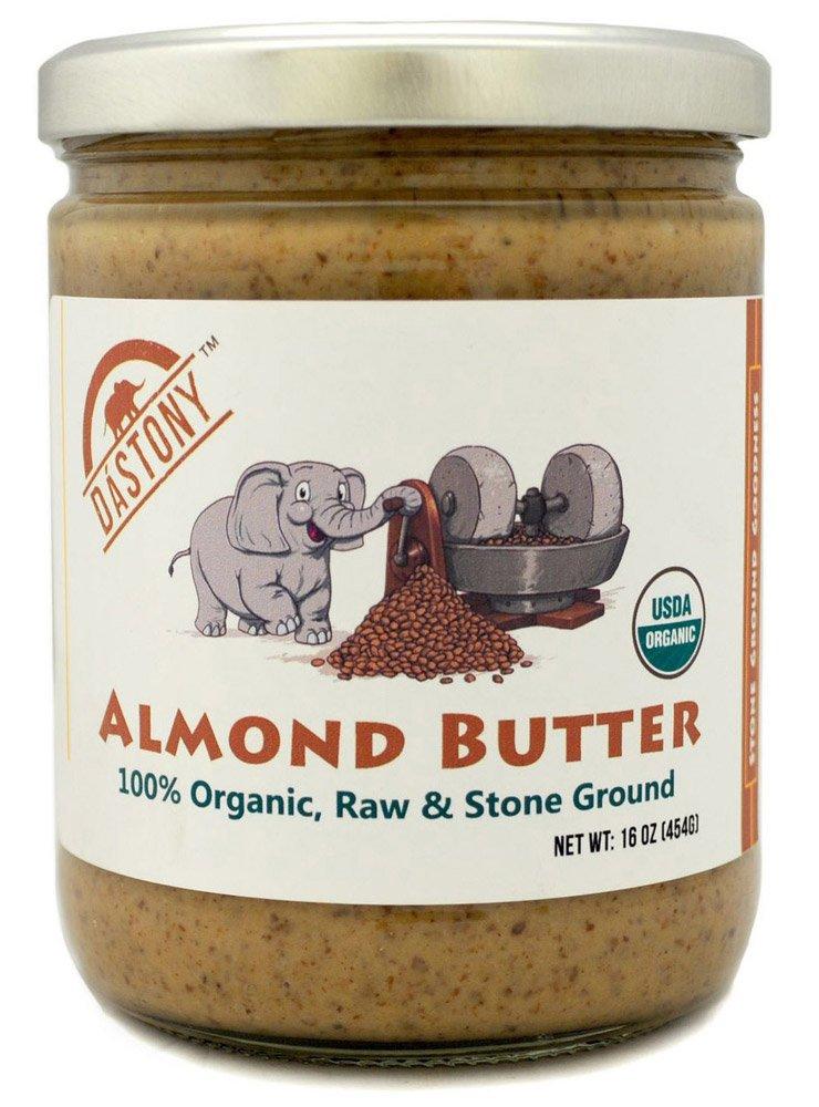 Dastony - 100% Organic Almond Butter - 16 oz by Dastony