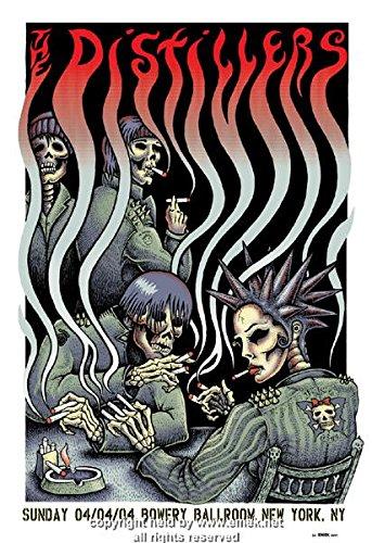 - 2004 The Distillers - Smokers Silkscreen Concert Poster by Emek