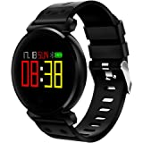 CACGO K2 Multifuctional Smart Watch for iOS/Android Phones, perfect for Adults Kids (Black)