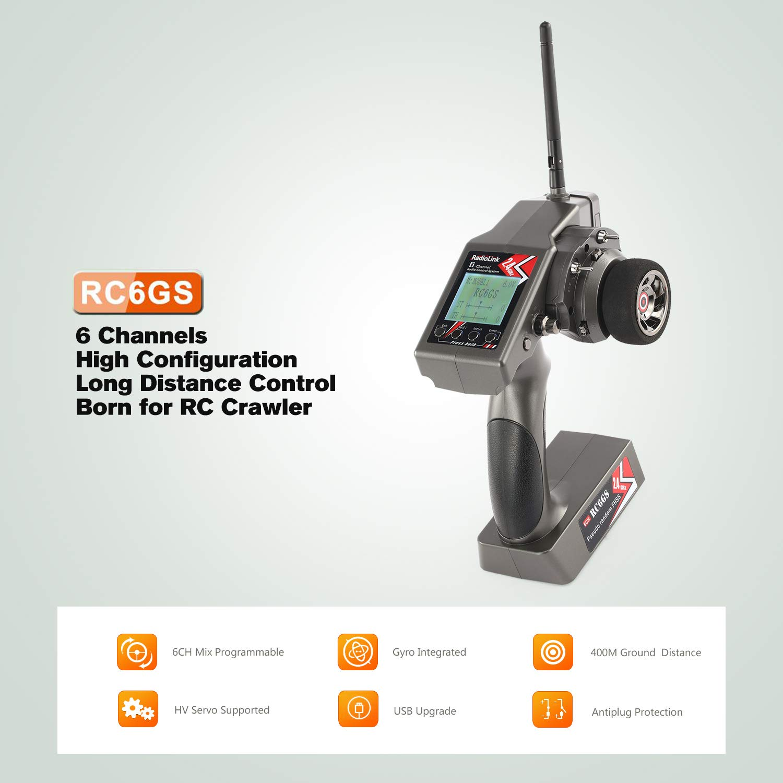 FairytaleMM RadioLink RC6GS 2.4G 6CH Controller Sender R6FG Empfänger Gyro für RC Auto Schwarz