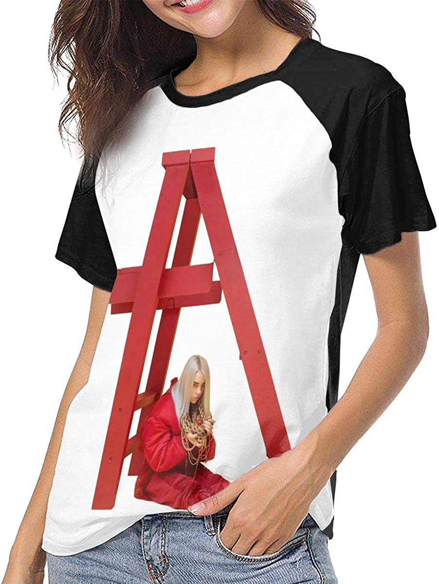 XiteSima Billie Eilish Womans Casual Fashion Baseball Short Sleeve T Shirts Crew Neck T Shirts
