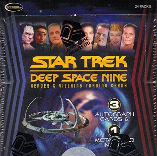 2018 Rittenhouse Star Trek Deep Space Nine 'Heroes & Villains' box (24 pk, THREE Autograph cards per box) from Rittenhouse