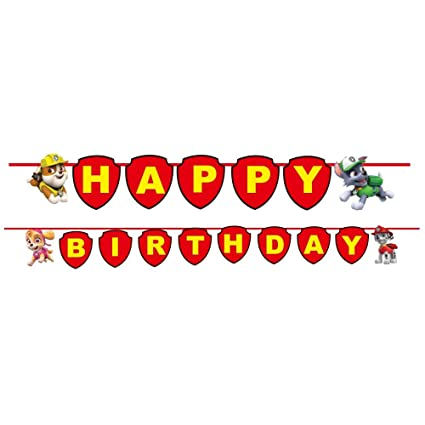 Party Propz Paw Patrol Happy Birthday Banner For Decoration