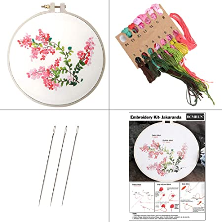 Beginners Cross Stitch Kits Embroidery Supplies DIY Needlework Embroidery Kit HY