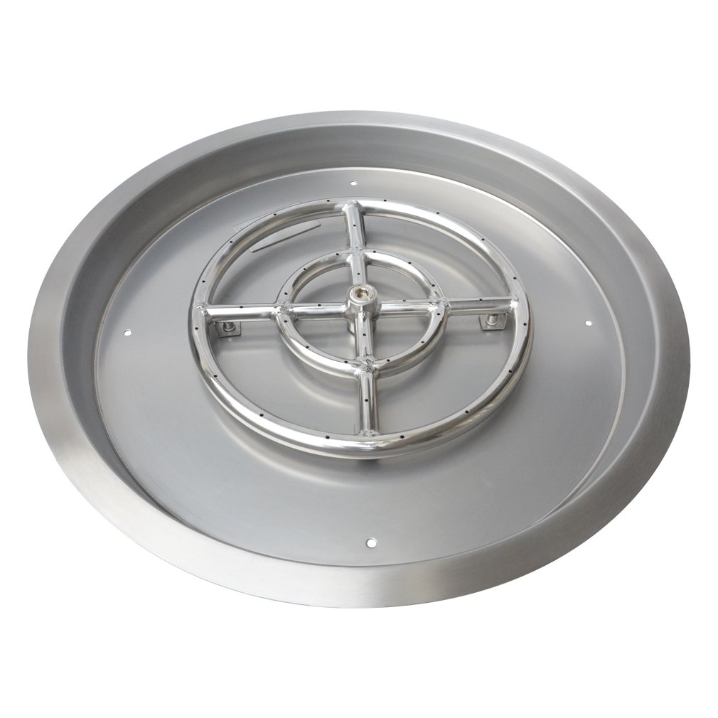 Stanbroil Stainless Steel Round Drop-in Fire Pit Pan with 18'' Burner Ring, 25-Inch by Stanbroil
