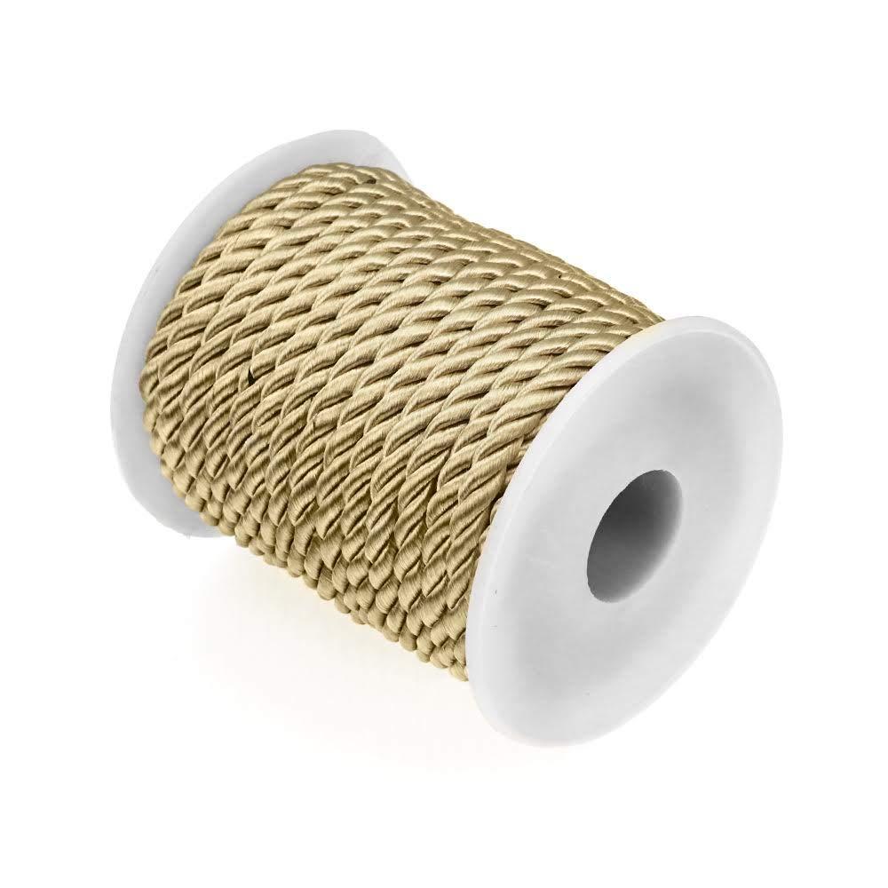 livraison urgente gratuite couture activit/é manuelle Cordon rayon 5.5mm Bobine de 10 m/ètres D/écoration RUBY Cordon tress/é dor/é cr/éative fabrication artisanale