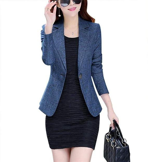 Primaverile Business Giacca Blazer Da Solidi Donna Colori Autunno Xq5wY8Z