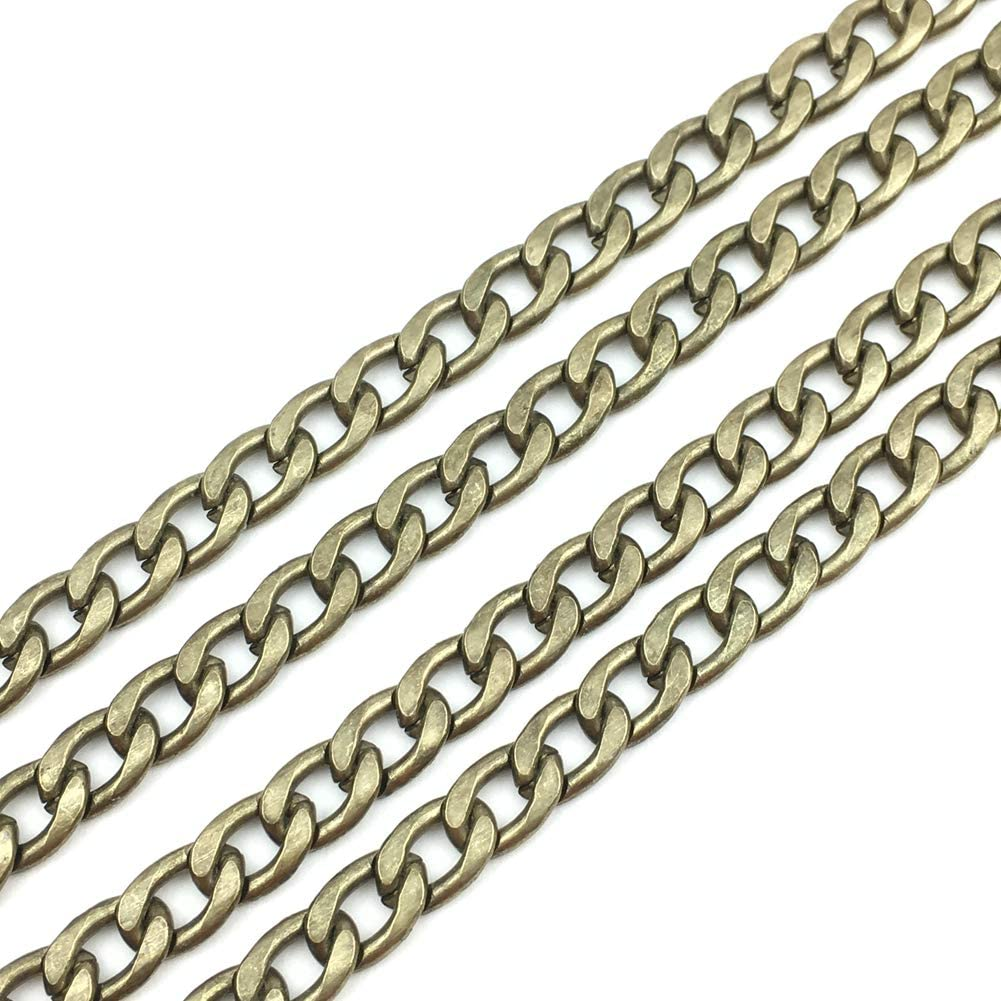 GuoFa 4PCS 47 Inch Purses Chains Flat Strap Handbags Replacement Chain for Wallet Clutch Satchel Tote Bag Shoulder Crossbody Bags Hardware Silver