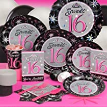 Sweet Sixteen Party Table Settings