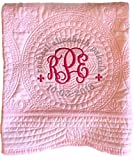 Personalized Heirloom Baby Quilt (Pink)