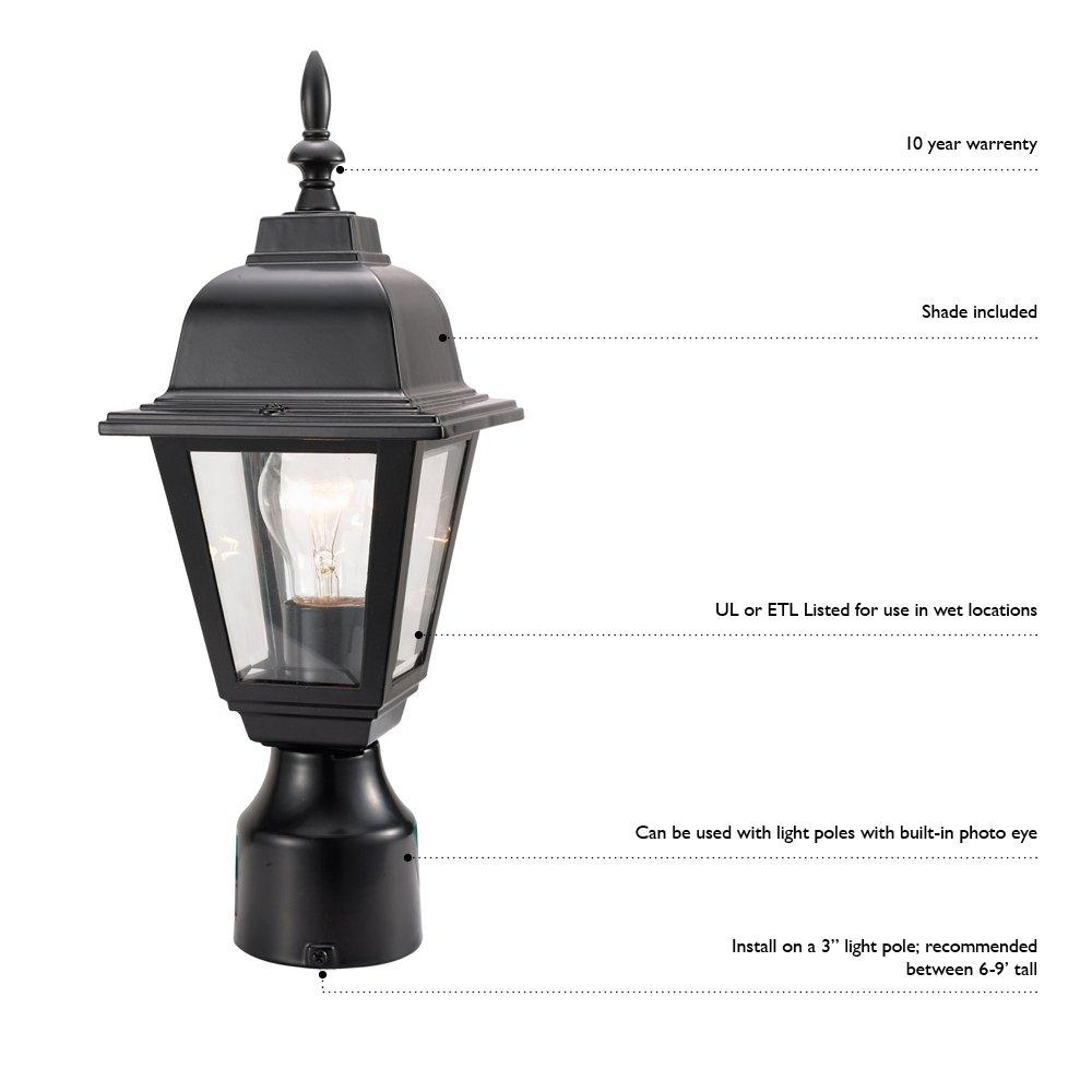 Outdoor Lamp Post Amazon: Design House 507509 Maple Street Indoor/Outdoor Post Light