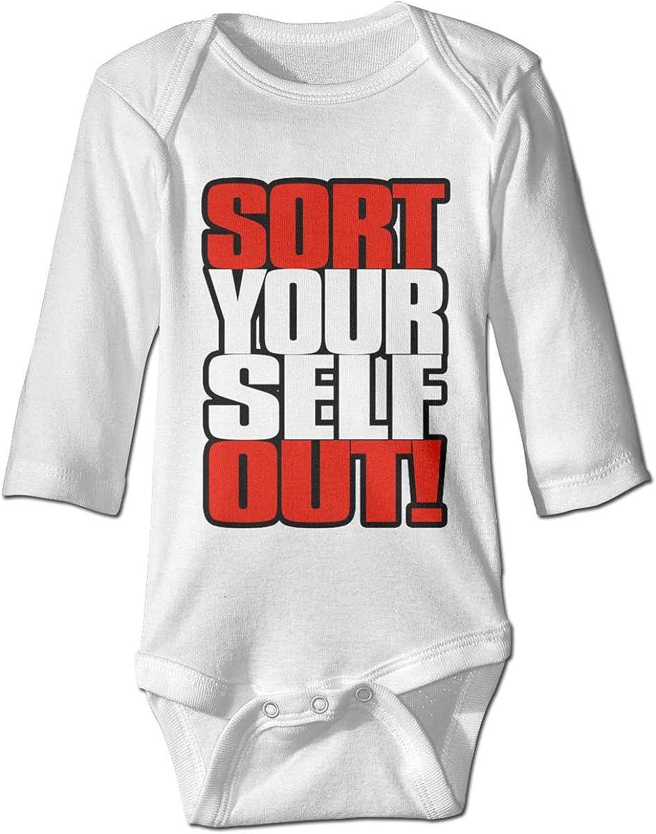 Marsherun Infant Babys Girl Boy Sort Yourself Out Long-Sleeve Climbing Bodysuits Playsuit