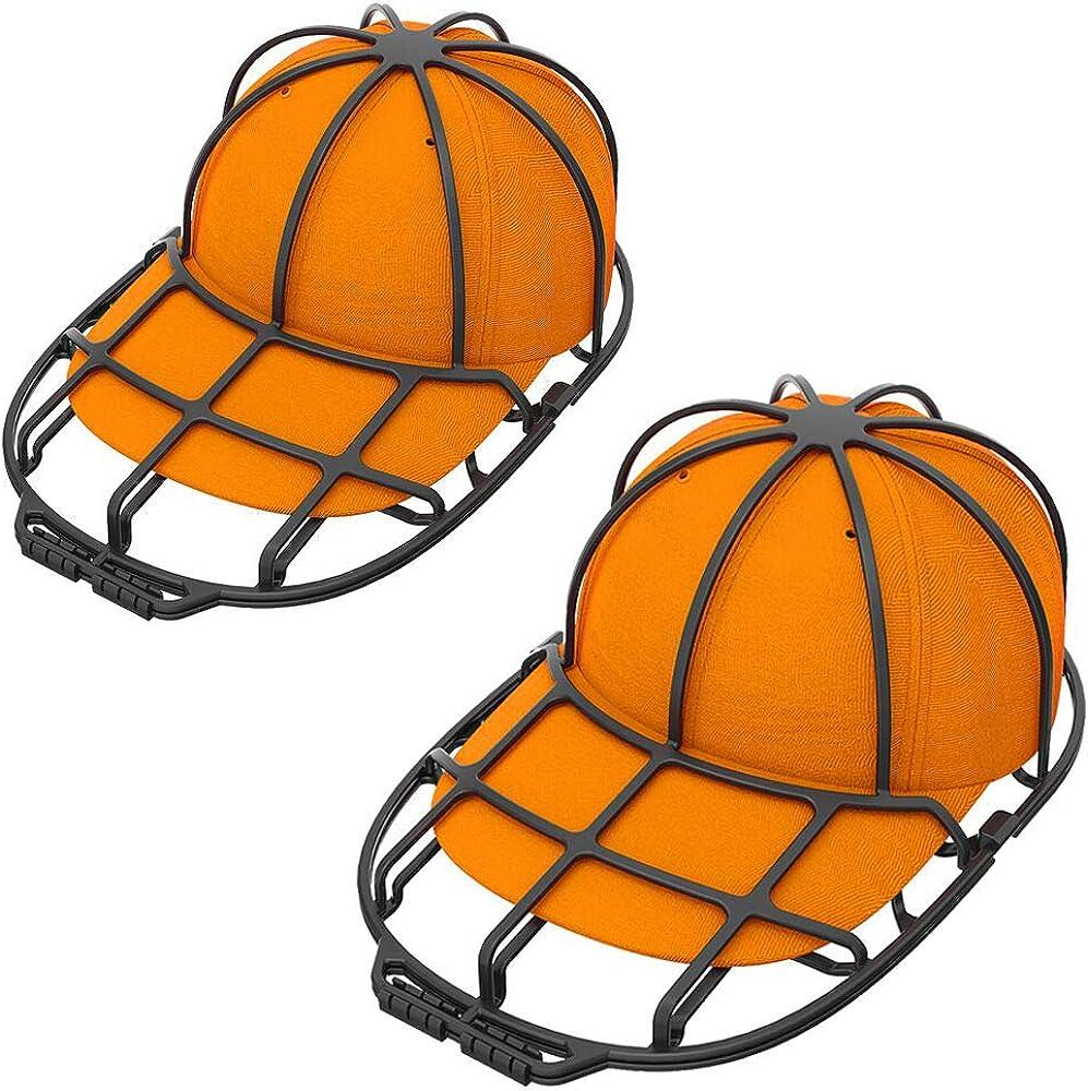 XQXA Cap Washer 2-Pack, Limpiador de Gorras de béisbol/Protector de Limpieza, Casquillo de la Bola Cap Lavado Marco Jaula Negro Hat Washer Visores Shaper: Amazon.es: Ropa y accesorios