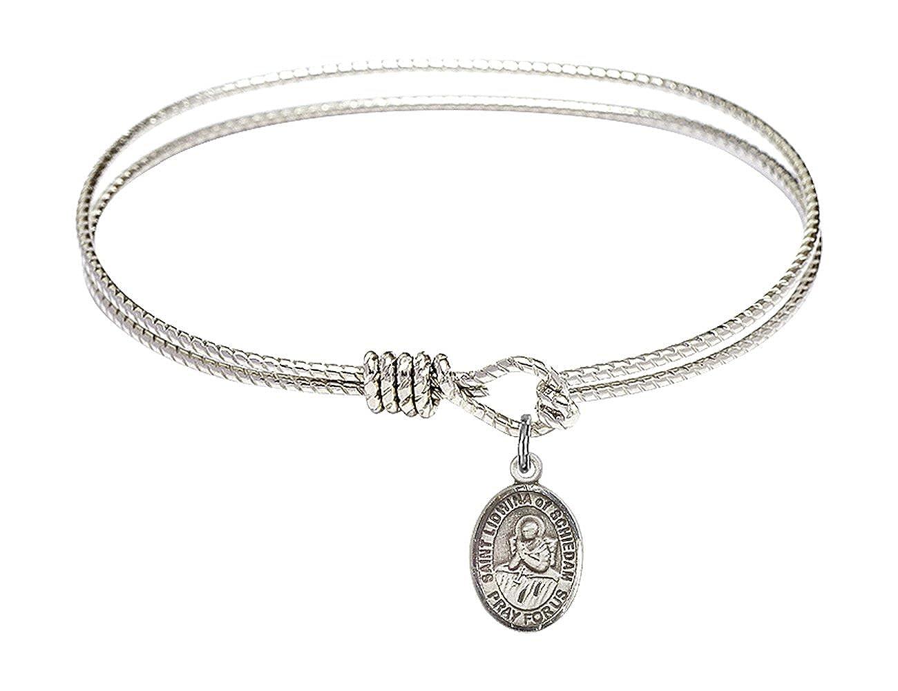 Lidwina of Schiedam in Sterling Silver Bonyak Jewelry Oval Eye Hook Bangle Bracelet w//St