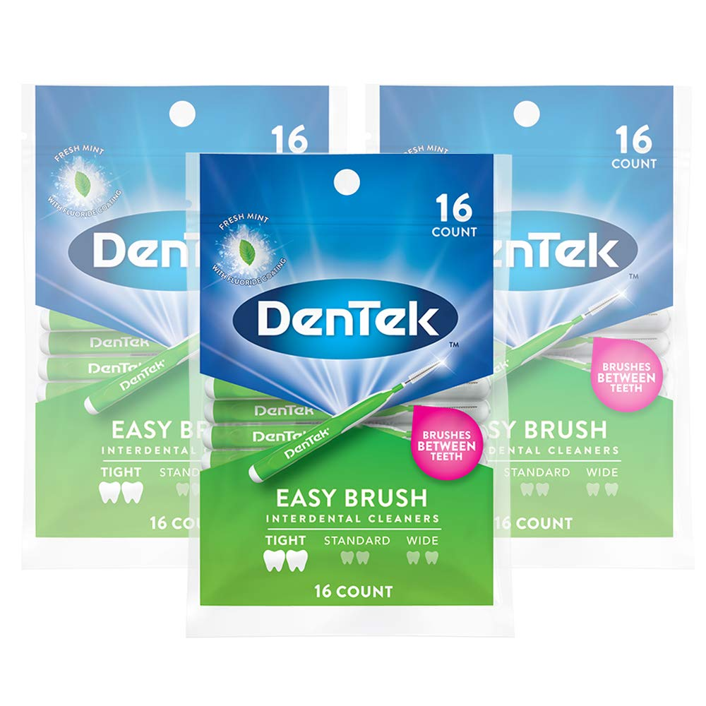 DenTek Slim Brush Interdental Cleaners | Brushes Between Teeth | Extra Tight Teeth | Mouthwash Blast Flavor | 32 Count (packaging may vary) : Flossing Products : Beauty