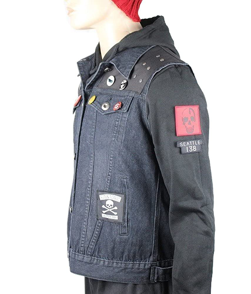 thecostumebase Infamous Second Son Vest and Pins Only Delsin Rowe Cosplay Denim Waistcoat