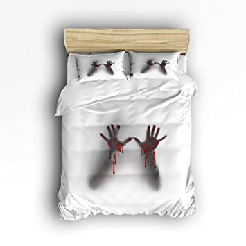 Yeho Art Gallery 4 Teilig Bettbezug Set Blut Handabdruck Muster