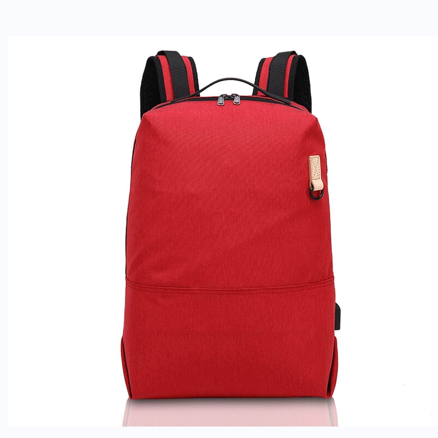 Red Nosterappou AntiTheft USB Charging Interface Travel Casual Student Bag Fashion Wild Travel Backpack Waterproof Backpack Unisex (color   Navy)