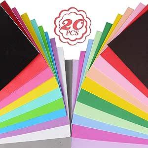 20pcs Cartulinas de Colores A4 Cartulina con Purpurina Papel con Purpurina Papel para Manualidades Hojas Goma Eva(Multicolor kit 2, 10pcs Normales + 10pcs Láminas de Goma Eva): Amazon.es: Oficina y papelería