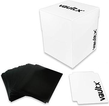 Vault X® Caja Grande de Cartas con 150 Fundas Negras - Tamaño ...