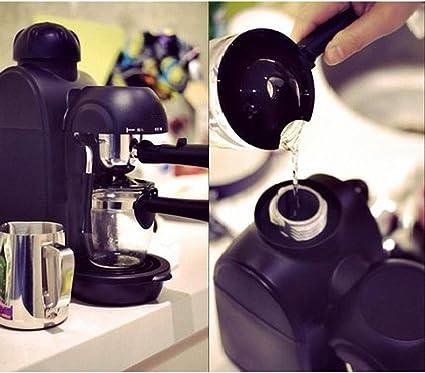 Zhenwo Sistema De La Máquina De Café Expreso Fácil De Usar Personal Presión De 5 Bar Portátil Espresso Vapor Máquina De Café Expreso con Espuma De Leche,Negro: Amazon.es: Deportes y aire libre