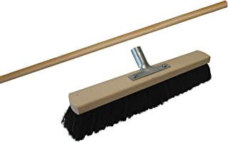 Broom Head 60 CM with Handle and Handle 1.4 M Indoor Broom for Large Areas horse hair. Broom Brush