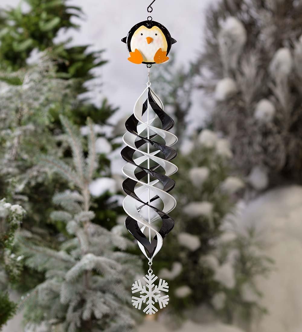 Plow /& Hearth 65A18-SAN Holiday Hanging Swirl Garden Wind Spinner Santa