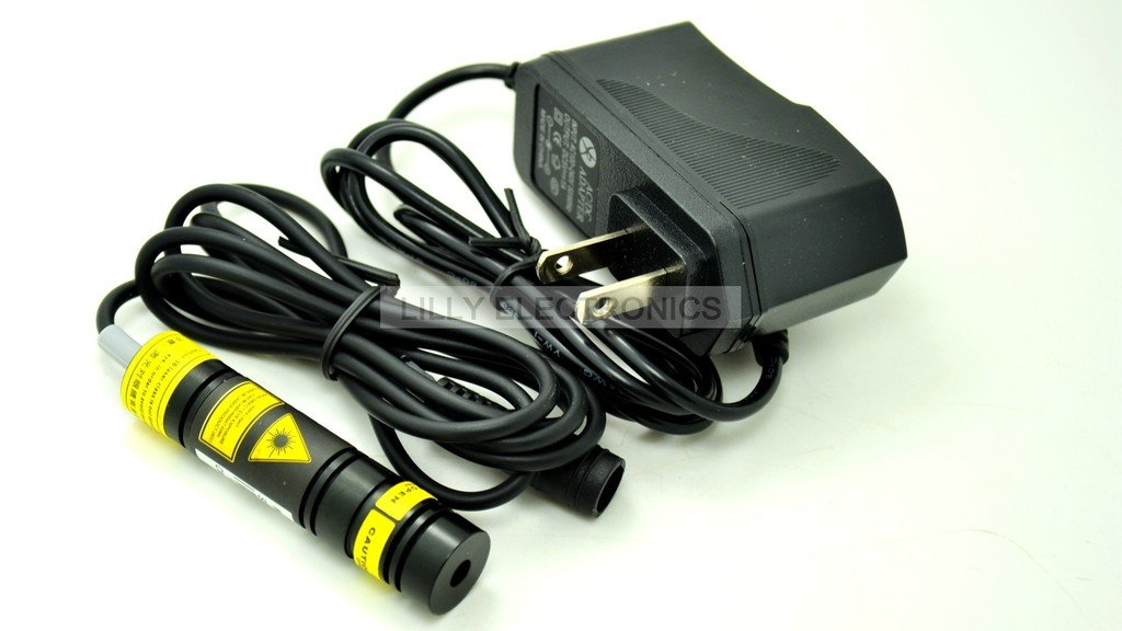 Focusable 100mW 980nm IR Infrared Laser line Diode Module w AC Adapter