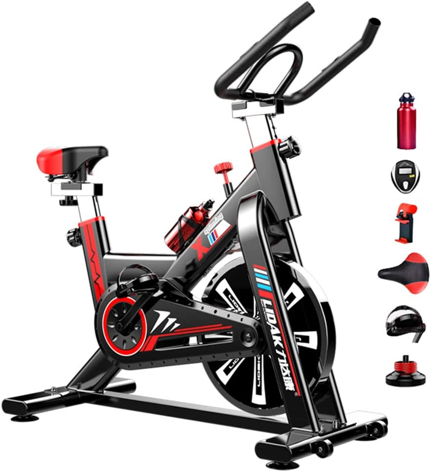 KASIQIWA Bicicleta Indoor Volante inercia,Pantalla LCD ...