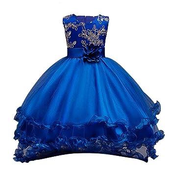 22f6ab8bcca77 Chaufly 子供 ドレス 女の子 ノースリーブ ドレス 子供 花 レース スパンコールパーティー ドレス お嬢様 ピアノ発表会