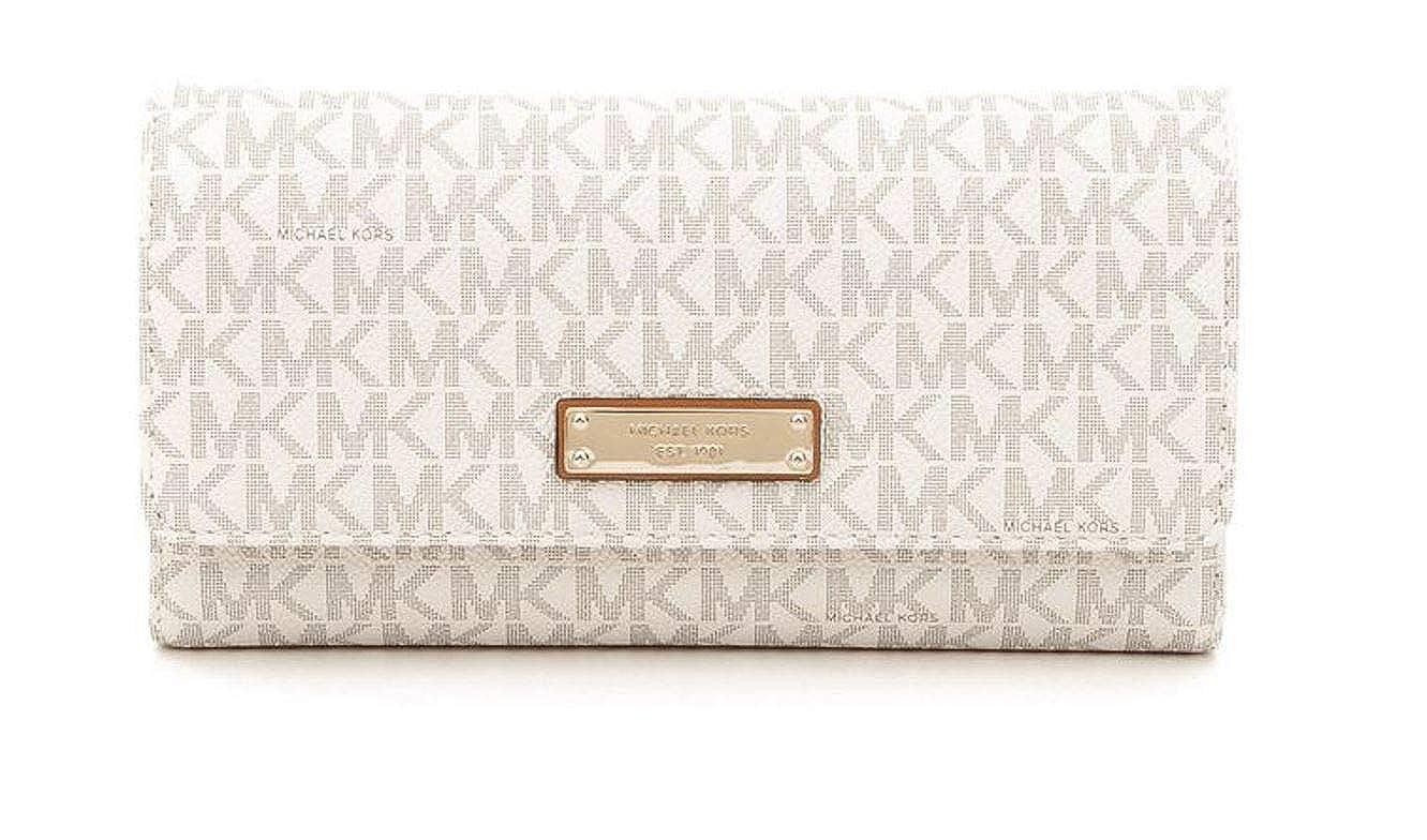 66490794b4b2 Amazon.com: Michael Michael Kors Womens Jet Set Signature Checkbook Wallet:  Shoes