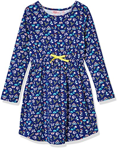 A for Awesome Girls Long Sleeve Jersey Dress X-Large Birds Floral (Dresses Floral Jersey Dress)