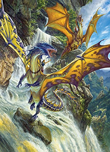 COBBLE HILL Waterfall Dragons Puzzle (1000 Piece)