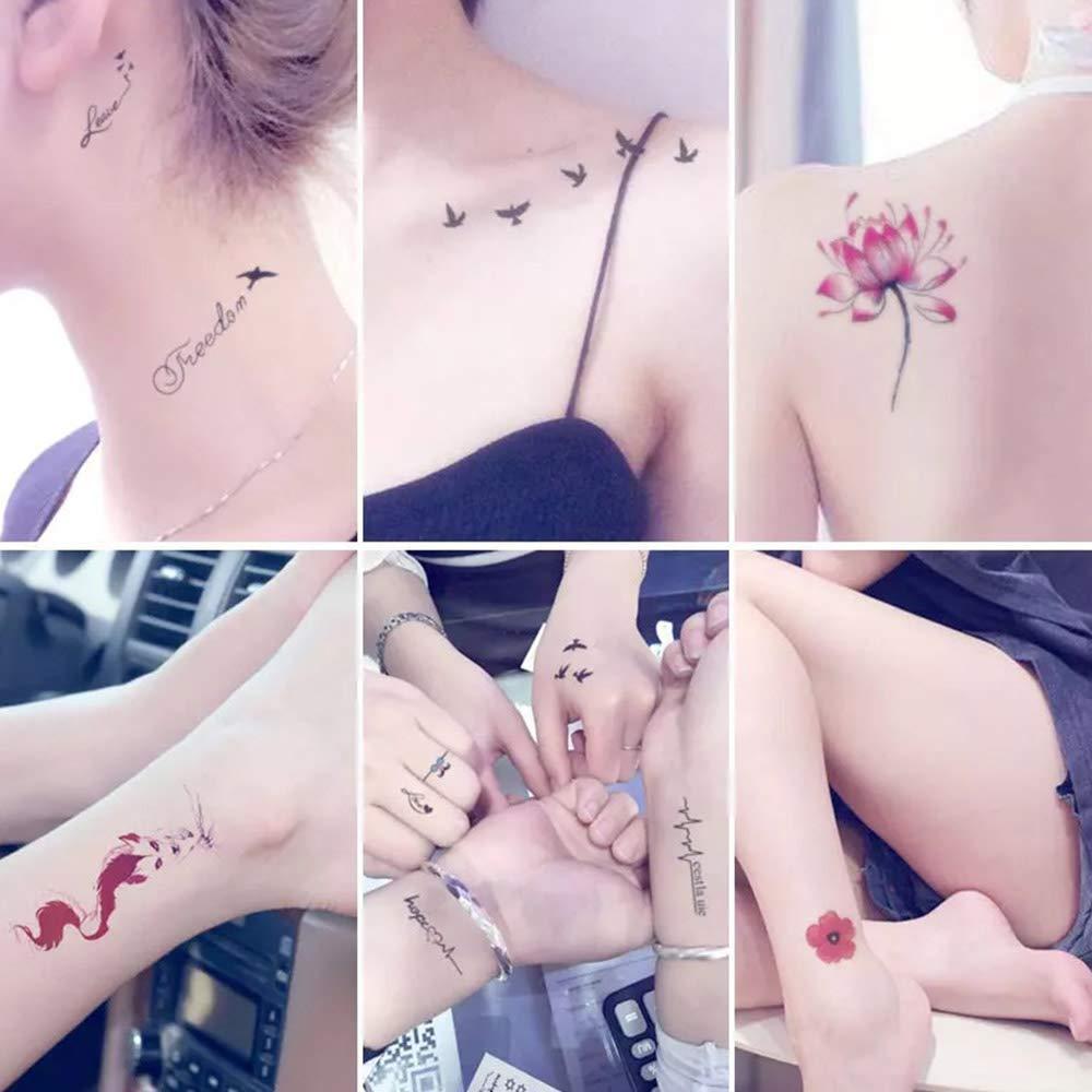 HJDQ 30 Hojas de Etiquetas engomadas Impermeables del Tatuaje ...