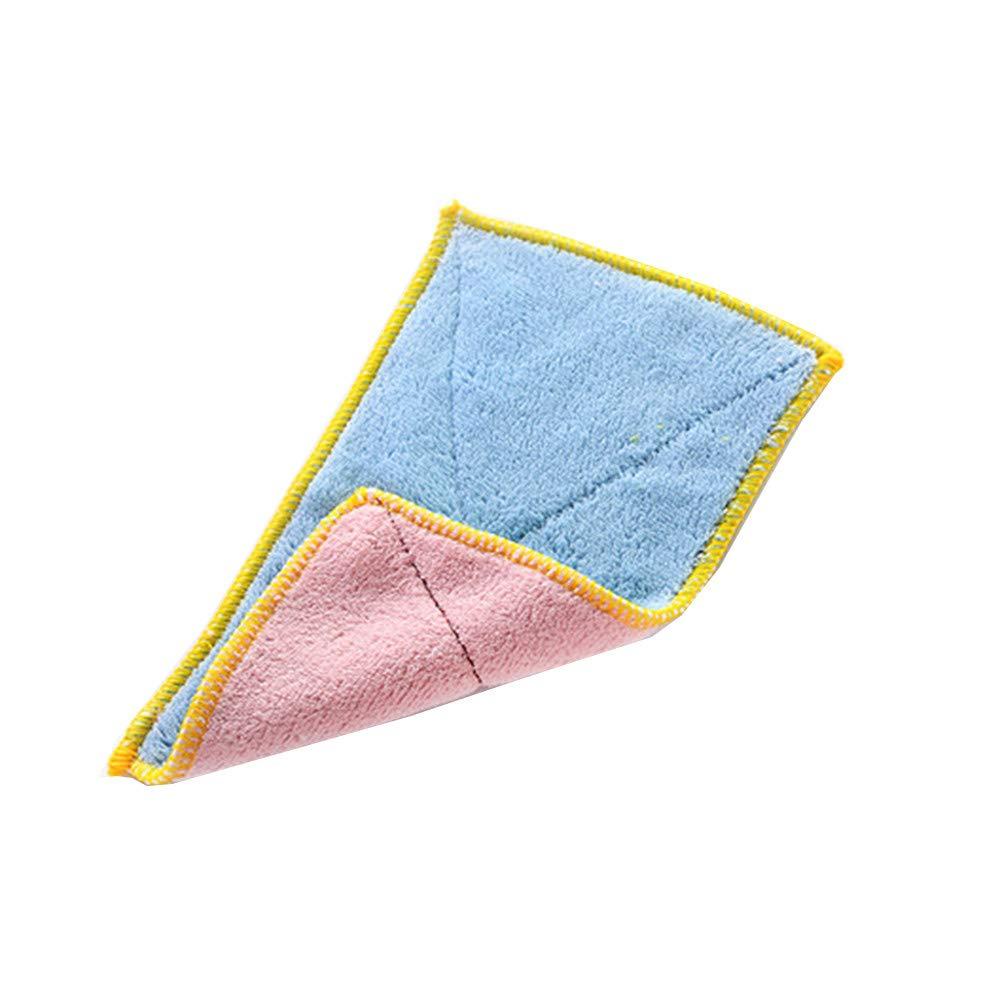 YaidaMixed Color Microfiber Car Cleaning Towel Kitchen Washing Polishing Cloth (B)