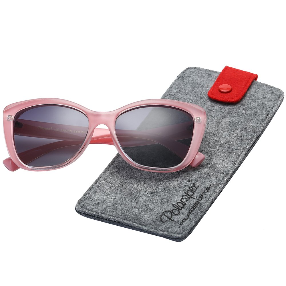 Polarspex Polarized Women's Vintage Square Jackie O Cat Eye Fashion Sunglasses by PolarSpex