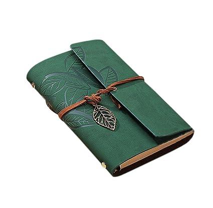 jingyuu cuaderno Retro agenda piel de viaje cuaderno de ...