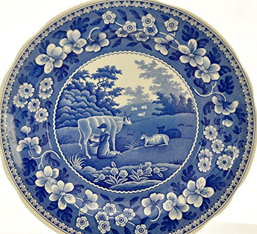 Room Plate Dinner Collection Blue (Spode Blue Room Collection Tradition Series MILKMAID Dinner Plate)