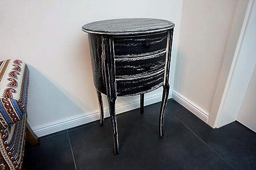 Diseño beitell mesa cómoda – Mesa esquinera BT de 3 Negro Vintage ...