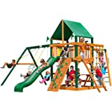 Gorilla Playsets Navigator with Timber Shield Vinyl Canopy Swing Set
