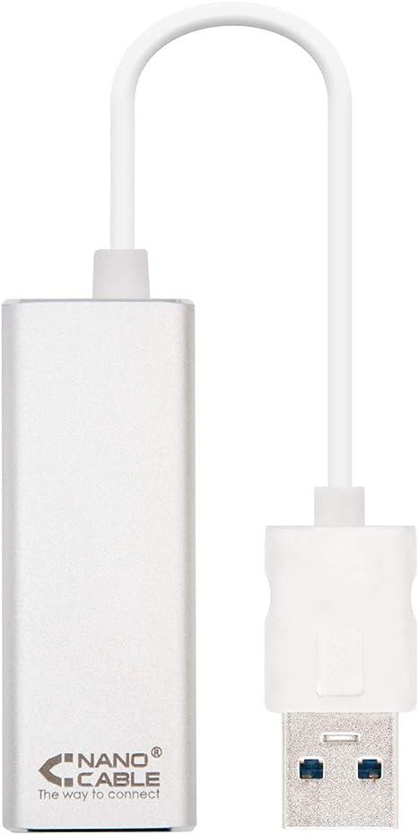 Nano Cable 10.03.0401 - Ethernet Adaptador de Red USB 3.0 (Gigabit ...