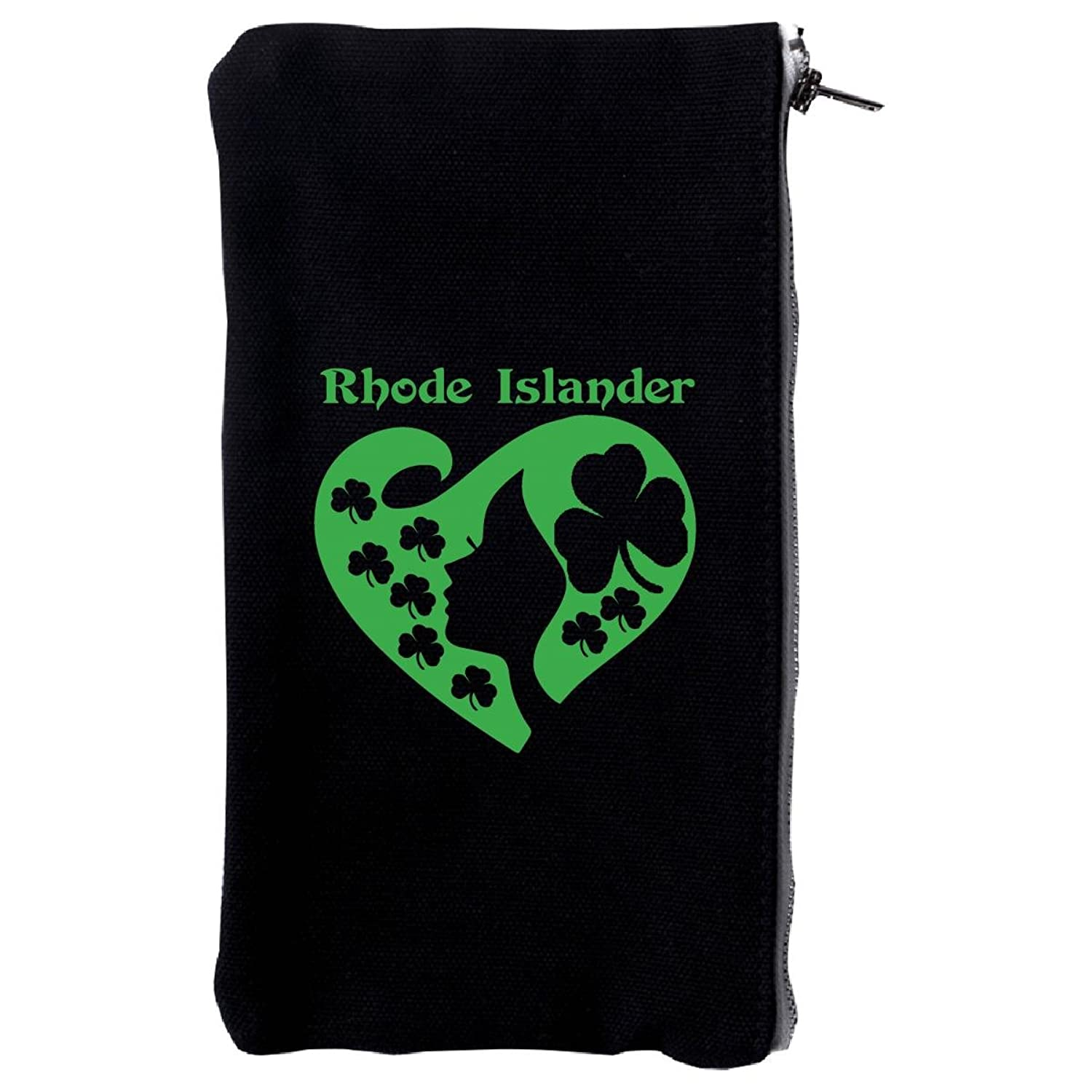 Rhode Islander St Patrick Day Girl Heart Irish Green - Make Up Case