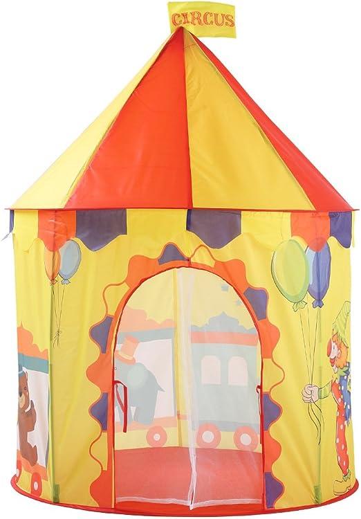 AABABY Casa de Juguetes Plegable para niños Juego de Juegos para niños Casa de Juguete para Uso en Interiores y Exteriores de jardín como Regalo Decoración navideña: Amazon.es: Hogar
