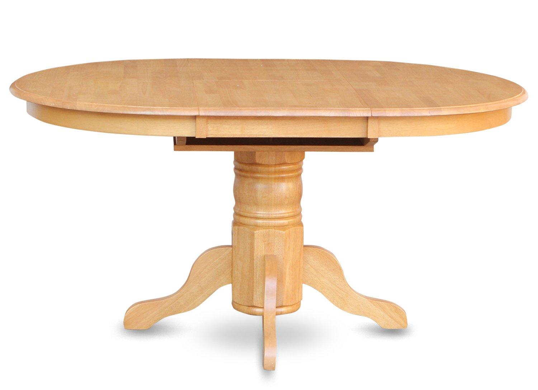 Amazon.com   East West Furniture AVT OAK TP Single Pedestal Table, Oak  Finish   Tables