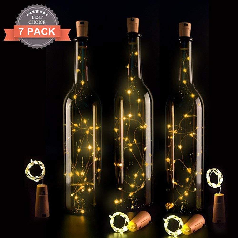 AMEU Lichterkette für Flasche, LED Lichterkette, LED Flaschenlicht, LED Korken, Flaschenlichter, Lichterketten,Nacht Licht Warmweiss für Hochzeit Party Romantische Deko