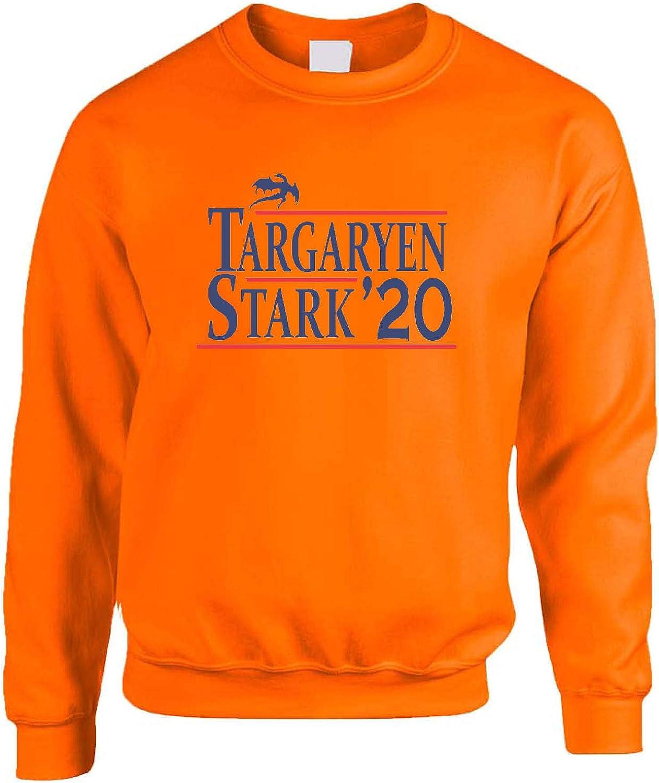 3XL, Orange Allntrends Adult Sweatshirt Targaryen Stark 2020 Trendy Popular Stark Top