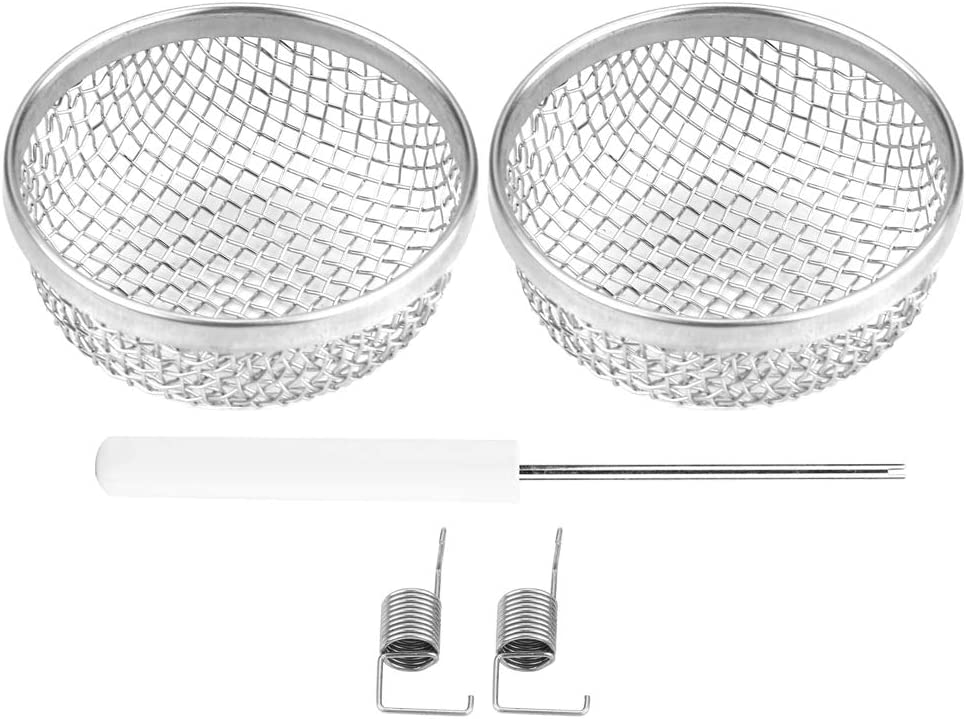 2pcs Stainless Steel Silver Vent Bug Furnace Screen Cover for Camper Trailer RV with Spring Fasteners Suuonee Furnace Net Cover