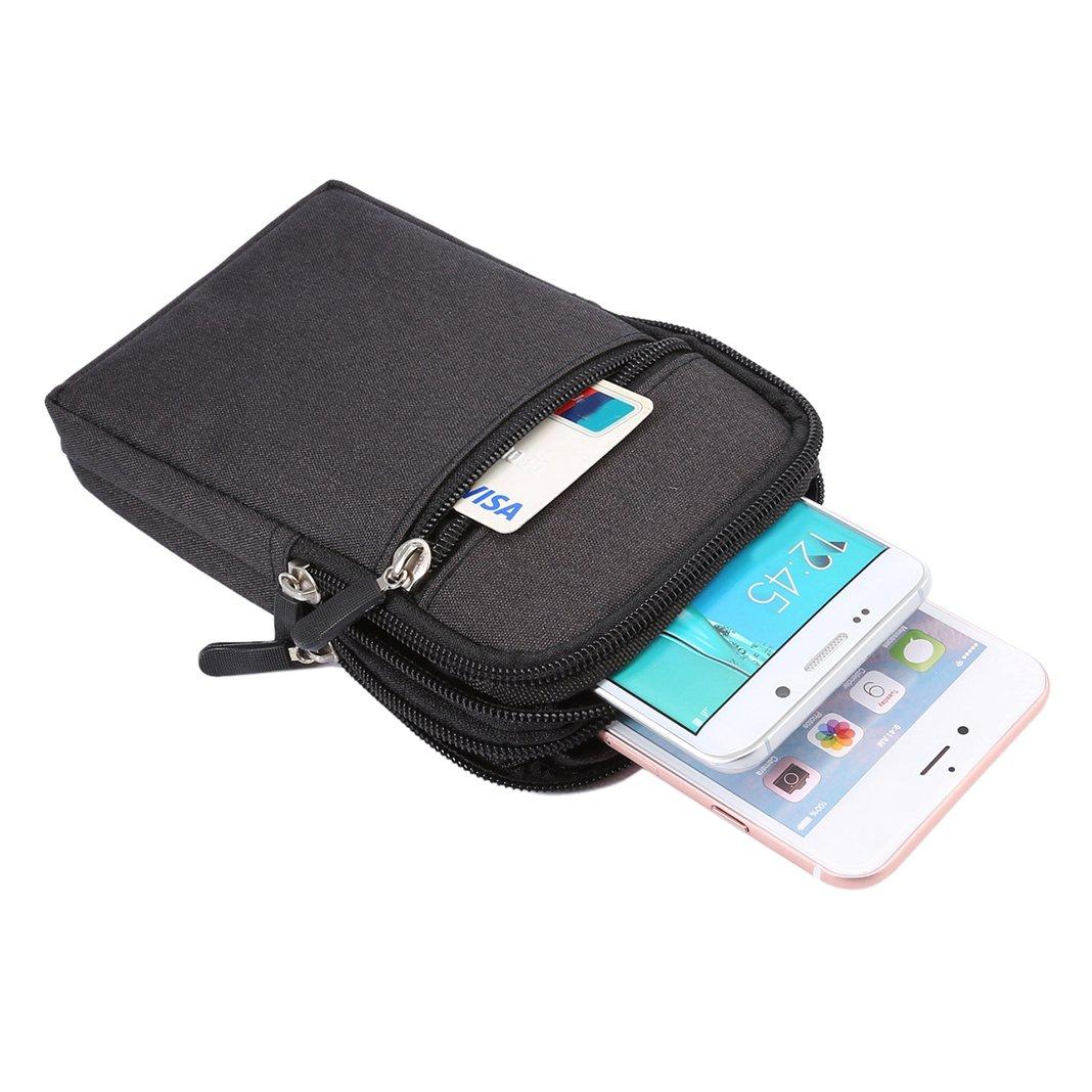 Moon mood 6.3 Multifunzione Borsello in Tela Uomo Borsetta Borsa Clip Cintura di Sport Waist Belt Bag Pouch HolsterTelefono Case Custodia Borsa da Uomo Clip da Cintura Sacchetto per Cellulari