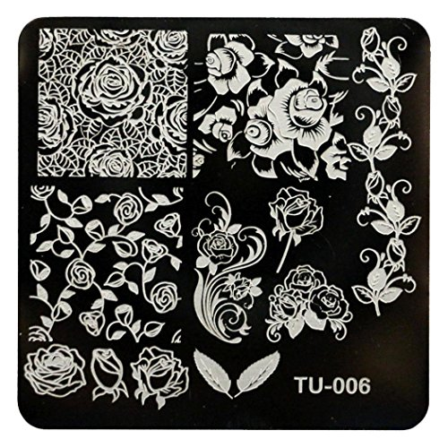 [Creazy Pattern DIY Nail Art Image Stamp Stamping Plates Manicure Template (TU-006)] (Diy Costumes With Black Corset)
